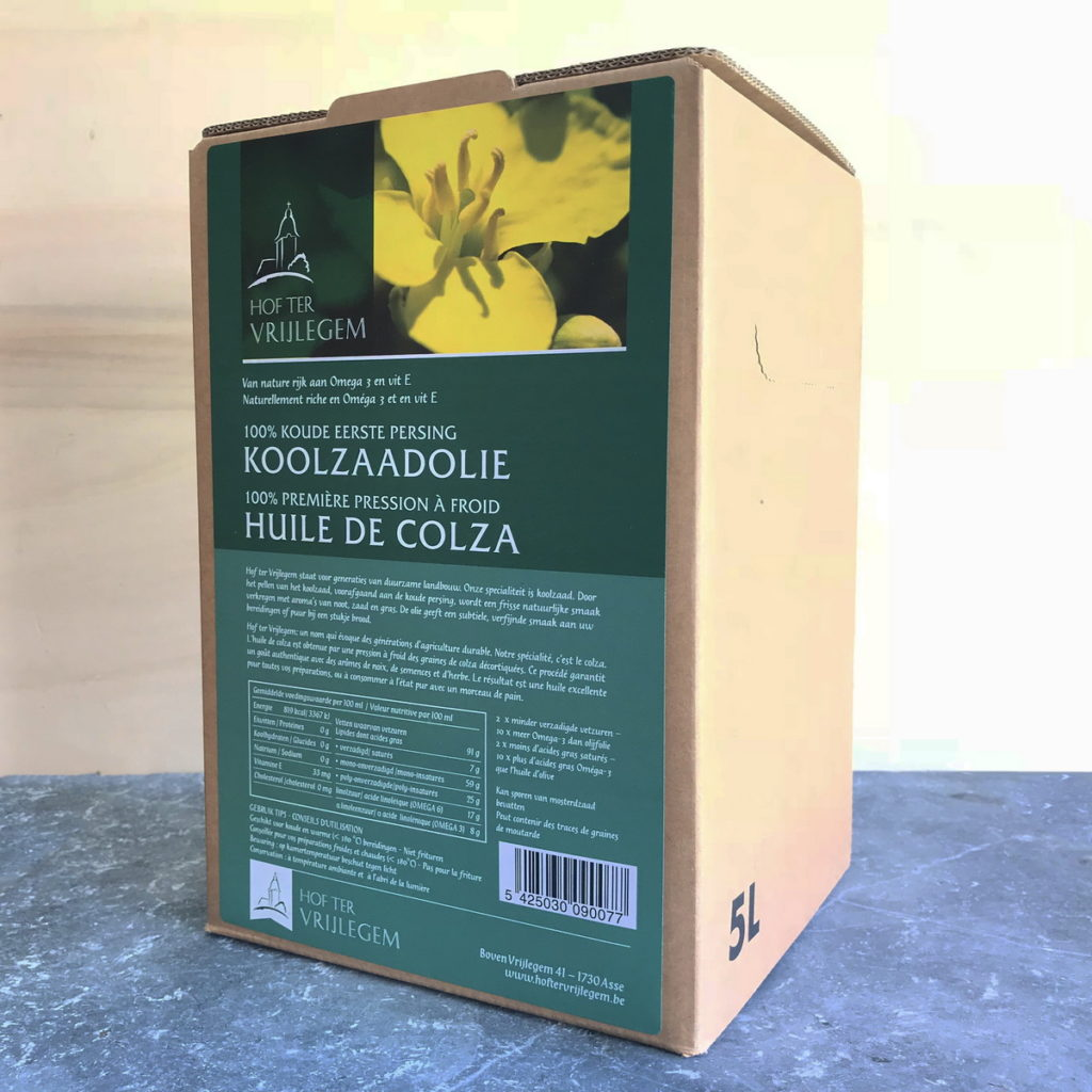 Koolzaadolie / Huile de Colza  Bag in Box 5L